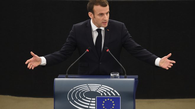 President Macron addresses European Parliament